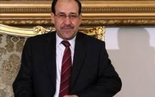 FILE:Nuri al-Maliki refused to go and said his removal is a dangerous violation of the constitution. Picture: AFP.