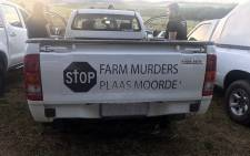 FILE: Farming communities protested against farm murders on 30 October 2017,  under the banner 'genoeg is genoeg' (enough is enough). Picture: Shamiela Fisher/EWN.