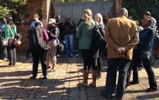 Journalists wait outside Winnie Madikizela-Mandela's house in Orlando on 21 May 2013. Picture: Sebabatso Mosamo/EWN