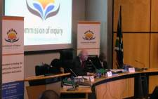 FILE: Retired South African judge, Ian Farlam, at the Farlam Commission of Inquiry. Picture: Gia Nicolaides/EWN.