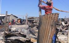 File Picture: Aftermath of a shack fire.