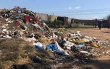 A rubbish heap in Sharpeville. Picture: EWN