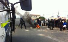 Disgruntled Kwanonqaba residents protest for improved service delivery. Picture: Siyabonga Sesant/EWN.