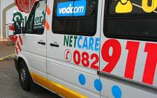 A minibus collided with a light motor vehicle outside Pretoria on Sunday morning. Picture: Netcare