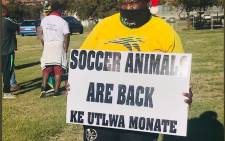 South Africa takes on Ethiopia in a World Cup qualifier. Picture: @That_Tholakele/Twitter.