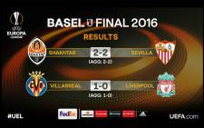 @EuropaLeague tweeted results on Thursday 28 April 2016.