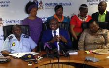 Gauteng Premier David Makhura addresses the media ahead the provincial safety summit, Thursday 25 September 2014. Picture: Vumani Mkhize/EWN.