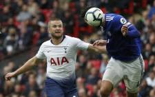 Cardiff City's English defender Sean Morrison (R) vies with Tottenham Hotspur's English defender Eric Dier during the English Premier League football match between Tottenham Hotspur and Cardiff at Wembley Stadium in London, on 6 October 2018. Picture: AFP