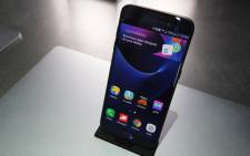 Samsung Galaxy S7 edge smartphone is on display at the Samsung booth during CES 2017 at the Las Vegas Convention Centre on 5 January 2017 in Las Vegas, Nevada. Picture: AFP.