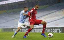 Manchester City's Gabriel Jesus challenges Liverpool's Joel Matip for the ball during their English Premier League match on 8 November 2020. Picture: @LFC/Twitter