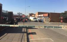 Four people have been killed and several others injured in Brakpan following a shooting incident at the Wenden and High Street intersection. Picture: Katleho Sekhotho/EWN