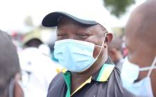 ANC deputy president David Mabuza on 7 October 2021 in Soshanguve, Tshwane, on the party's campaign trail engaging residents and sharing the the ANC manifesto. Picture: @MYANC/Twitter.