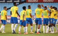 FILE: Mamelodi Sundowns players celebrate a goal against SupeSport United on 26 May 2021. Picture: @OfficialPSL/Twitter