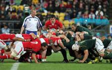 Springboks vs Wales in the Rugby World Cup quarterfinal at Twickenham on 17 October 2015. Picture: Rugby World Cup ‏@rugbyworldcup.