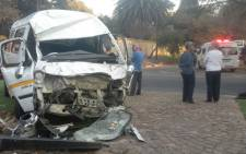 Two adults and 22 school children were injured in a Randburg taxi accident. Picture:Supplied.