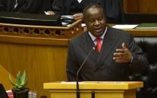 Finance Minister Tito Mboweni delivers the Medium-Term Budget Policy Statement in Parliament on 30 October 2019. Picture: @TreasuryRSA/Twitter