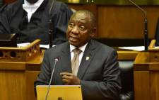 President Cyril Ramaphosa delivers the State of the Nation Address on 7 February 2019. Picture: Twitter/parliamentofrsa