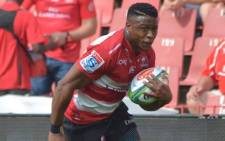 Lions winger Aphiwe Dyantyi will miss the next six weeks through injury. Picture: Facebook/Aphiwe Dyantyi