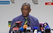 FILE: African National Congress secretary general Ace Magashule briefing the media. Picture: Screengrab