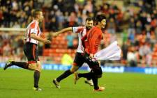 Sunderland's Ki Sung-Yueng celebrates after scoring against Chelsea in the League Cup semifinals on 17 December 2013. Picture: Facebook.