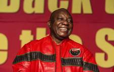 President Cyril Ramaphosa addresses the Cosatu Congress 2018 at Gallagher Convention Centre in Midrand. Picture: Kayleen Morgan/EWN