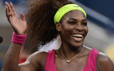 US Serena Williams celebrates defeating Italy's Sara Errani the 2012 US Open women's singles semifinals on September 7, 2012. Picture: AFP.