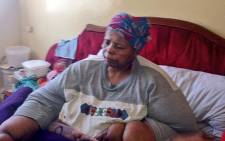 Egnas Dyidi has not been able to leave her bedroom for 10 years. Picture: Rahima Essop/EWN.
