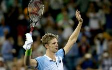 Kevin Anderson of South Africa celebrates after defeating Andy Murray of Great Britain during their Mens Singles Fourth Round match on Day Eight of the 2015 US Open at the USTA Billie Jean King National Tennis Center on 7 September, 2015 in the Flushing neighborhood of the Queens borough of New York City. Picture: AFP.