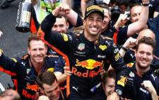 Daniel Ricciardo nursed a wounded Red Bull to Monaco Grand Prix victory in the team's 250th race. Picture: Twitter