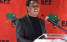 EFF leader Julius Malema on 9 August 2020 addressed his party's official National Women's Day event at the Fourways Memorial Park next to struggle hero Winnie Madikizela-Mandela's gravesite. Picture: @EFFSouthAfrica/Twitter.