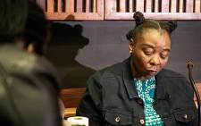 Nomia Rosemary Ndlovu continued her testimony in the Palm Ridge Magistrate Court on 15 September 2021. She is accused of killing several of her family members and boyfriend and plotting the murder of her sister and five kids. Picture: Xanderleigh Dookey Makhaza/Eyewitness News