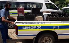 Police confiscate booze worth R125k from North West home after tip-off. Image: SAPS