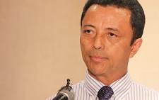 Marc Ravalomanana announcing his return to Madagascar. Picture: Taurai Maduna/EWN