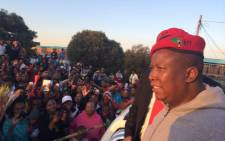 EFF leader Julius Malema addressing Alexandra residents at the anti-xenophobia march on 20 April 2015. Picture: Twitter @ EconFreedomZA.