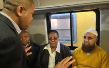 FILE: Transport Minister Dipuo Peters and Gauteng Transport MEC Ismail Vadi inspecting upgrades made on Metrorail trains in Soweto. Picture: Govan Whittles/EWN.
