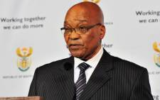 President Jacob Zuma announces a cabinet reshuffle on 12 June 2012. Picture: GCIS.