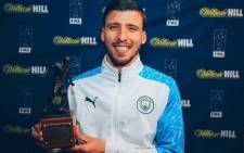 Manchester City's Ruben Dias has been named player of the year by the Football Writers' Association on 20 May 2021. Picture: @rubendias/Twitter.