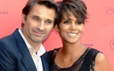 US actress Halle Berry with her husband Olivier Martinez. Picture:AFP.