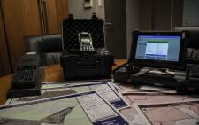 The different devices used for elections in South Africa by the IEC for data capturing. Picture: Abigail Javier/Eyewitness News