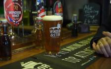 A screengrab of the special beer, called the Windsor knot, that has been brewed for the royal wedding. Picture: CNN
