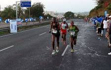 Runners at the 2013 Comrades Marathon. Picture: @Donnette via Twitter.