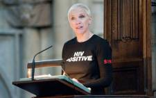 Scottish singer Annie Lennox speaks about her experiences of the fight against HIV and AIDS in Africa during the annual Commonwealth Day Observance Service at Westminster Abbey in central London, England, on March 14, 2011. The overall theme for this years Observance was Women as Agents of Change. Picture: AFP.