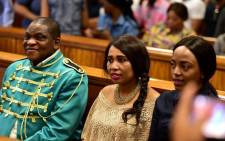 Timothy Omotoso and his co-accused Zukiswa Sitho and Lusanda Sulani at the Port Elizabeth High Court on 9 October 2018. Picture: Gallo Images/Sowetan/Eugene Coetzee.