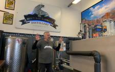 Mike Schmidt is the co-owner of Hout Bay Harbour Distillery – a world-class distillery in the heart of the historic harbour. Picture: Kaylyyn Palm/Eyewitness News.