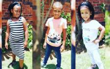 From left Lashay Goodall (10), Learyn Goodall (11) and Aiden Goodall (6), were all killed in an accident on 11 March in Johannesburg. Picture: Supplied.