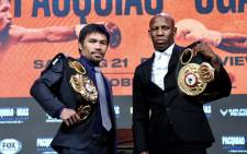 Cuba's Yordenis Ugas defeated Manny Pacquiao on Saturday, 21 August 2021. Picture: Twitter/@MannyPacquiao
