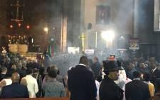 Funeral proceedings for Ronnie Mamoepa. Picture: Hitekani Magwedze/EWN.