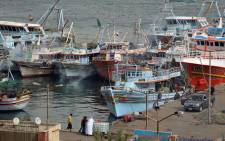 Boats in the port of the Suez Canal city of Port Said. Picture: AFP.