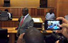 Julius Malema inside the Polokwane High Court. Picture: Barry Bateman/EWN.
