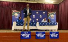 DA leader Mmusi Maimane on the campaign trail in Ulmazi on 23 January 2019. Picture: @Our_DA/Twitter